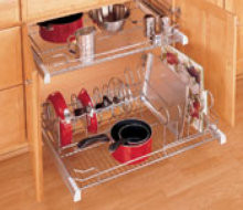 Chrome Pots and Pans Organizer