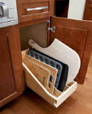 Wooden Tray Divider Pullout
